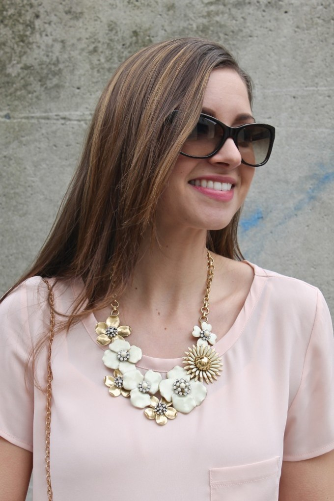 Dot Bloom Floral statement Necklace
