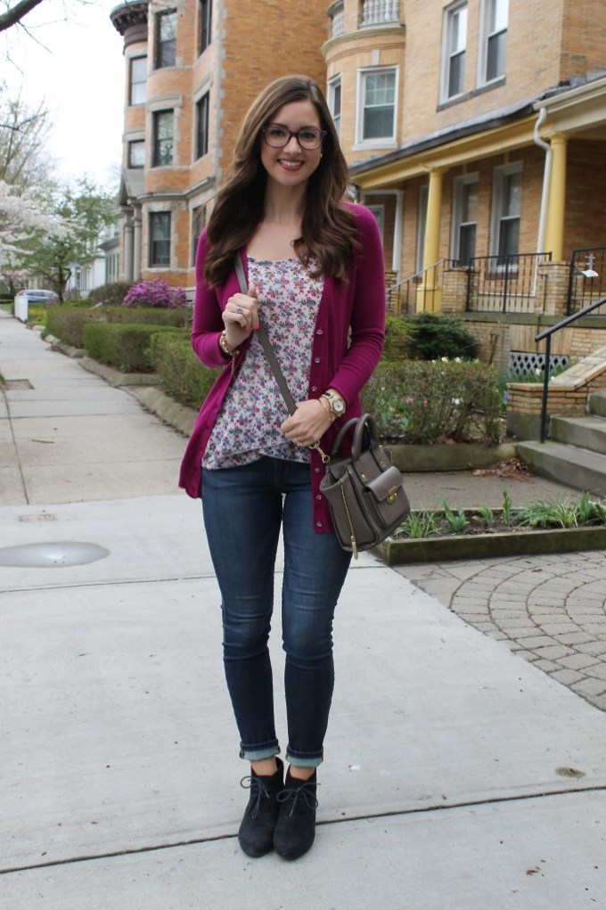 Floral, Magenta and Booties