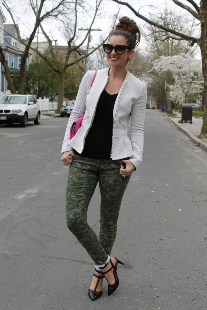Heather Grey Peplum and Camo
