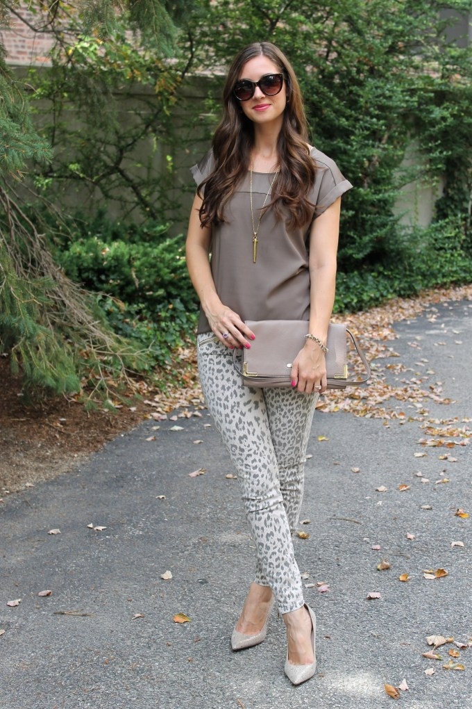 Leopard Print Current/Elliott Denim