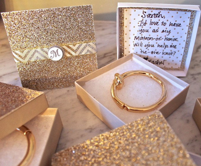 "DIY ""Wil You Help me Tie The Knot"" Ask your Bridesmaid Gift Idea"