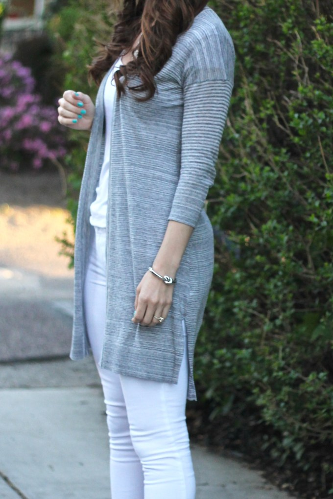Express Grey Duster Sweater