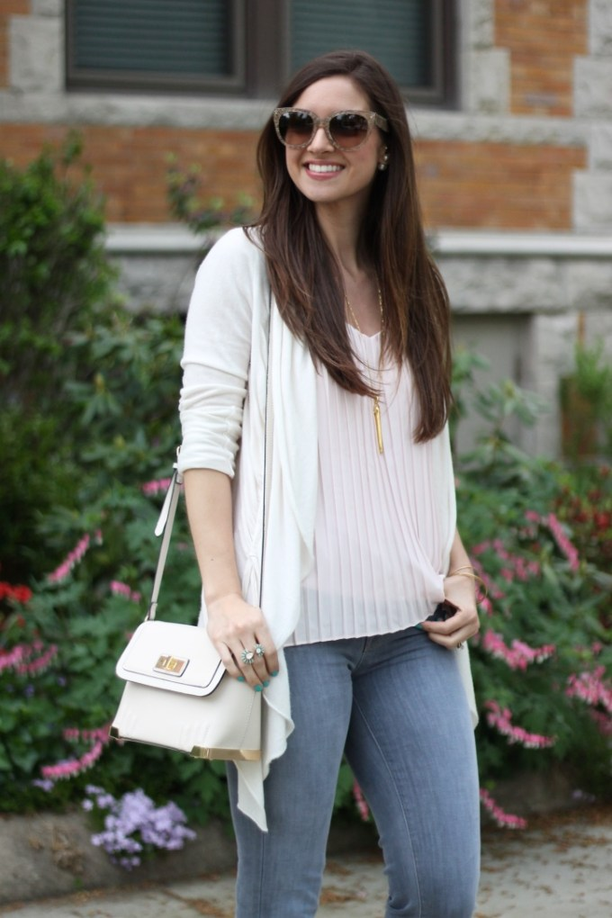 Express Blush Pink Pleated Blouse