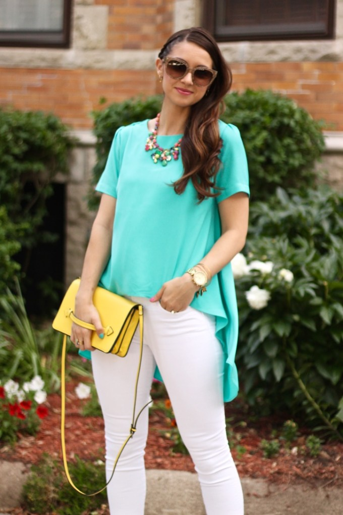 Aqua High-Low blouse by Philosophy