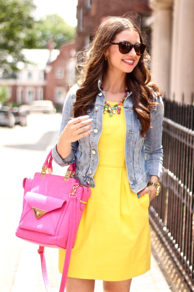 Pink and Yellow Summer OUtfit