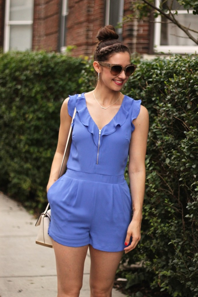 Periwinkle Summer Romper with Ruffles