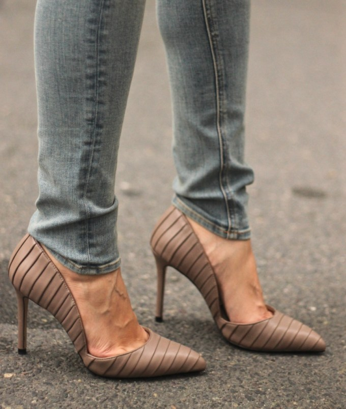 Zara taupe court pump