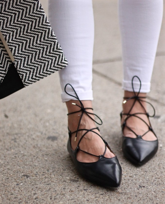Topshop Lace-ups and chevron