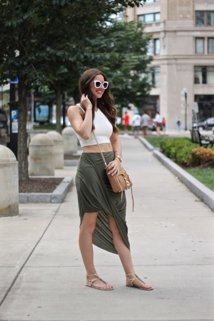 Summer Transition: Earth Toned Crop and Asymmetrical Loop SKirt