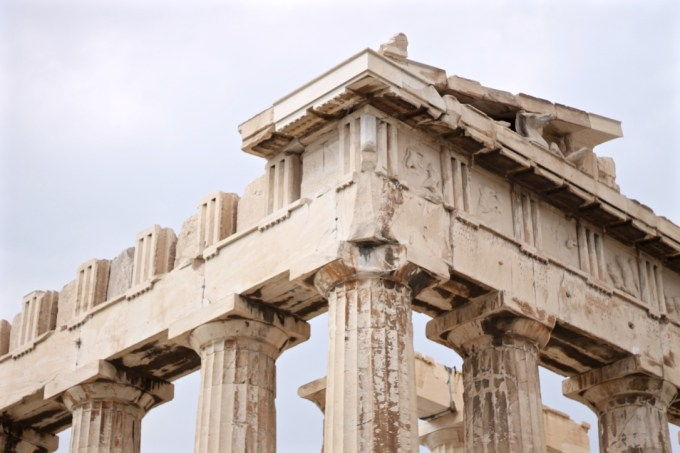 Close-up of Parthenon
