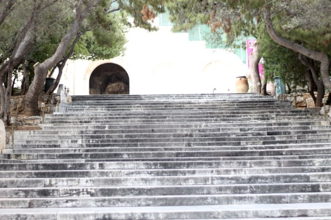 Stairs outside of the Acropolis, Athens, Greece