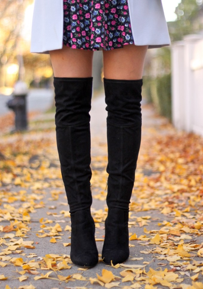 Black Suede Salena Over-theKnee Boots by Ivanka Trump