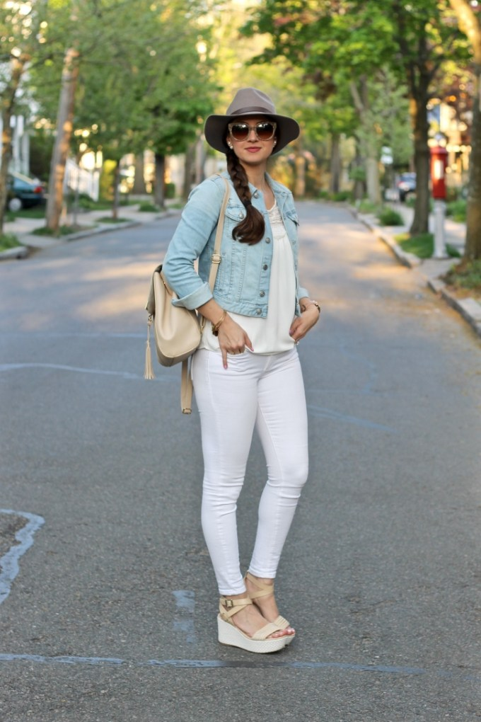 Denim Jacket & Platform Espadrilles