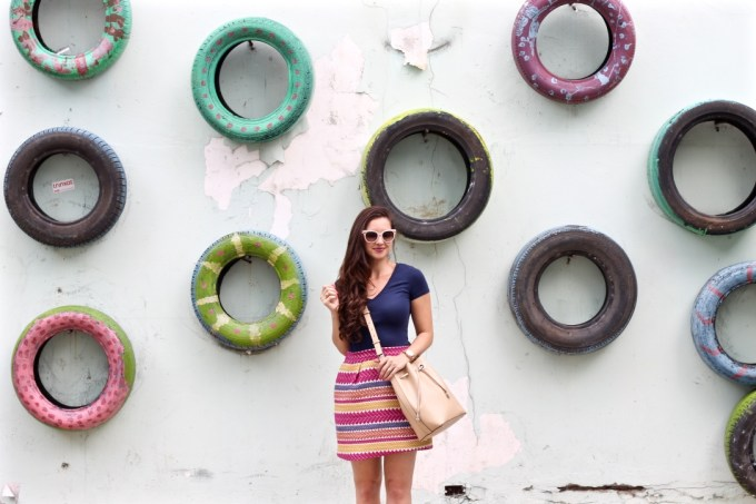 #LaMPTravels, La Mariposa in Panama, Casco Viejo, Panama City, Panama, What to wear in Panama, Panama Tire Wall