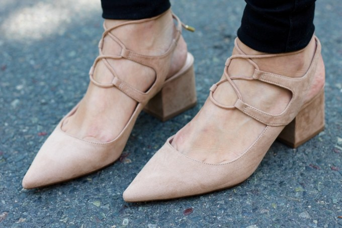 Zara Lace-up Pointy Heels