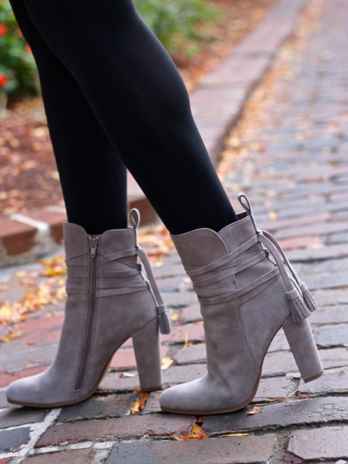 Steve Madden Grey Glorria Booties with Tassels