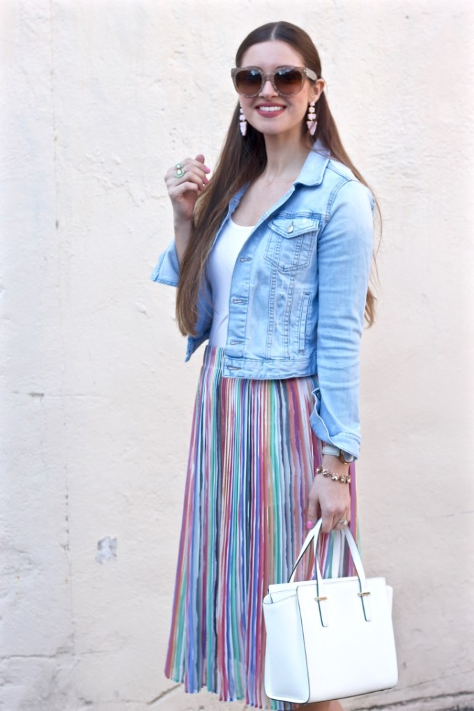 Zara Pleated Pastel Midi Skirt, Easter Outfit Inspo