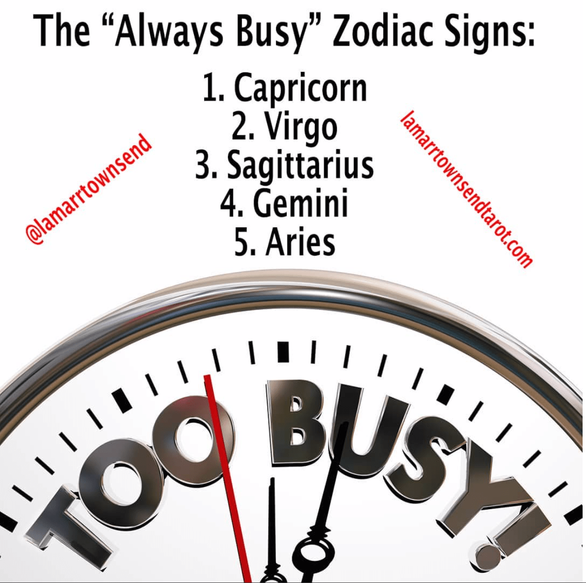 Always Busy Astrology Zodiac Sign Meme Lamarr Townsend Tarot Lamarr Townsend Tarot