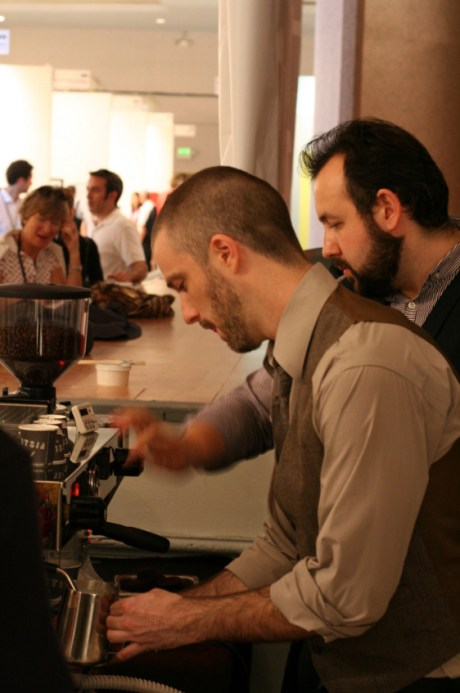 Stephen Morrissey and Michael Phillips getting serious behind the Linea
