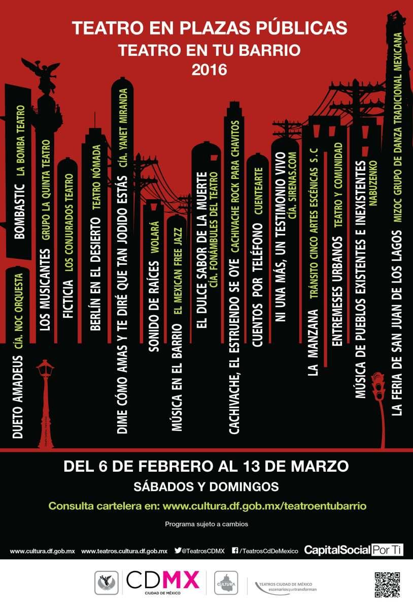 Teatro en Plazas Públicas, Teatro en tu Barrio