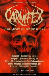 Carnifex de gira por México