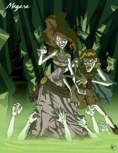 Megara de « Hercule » en version zombie