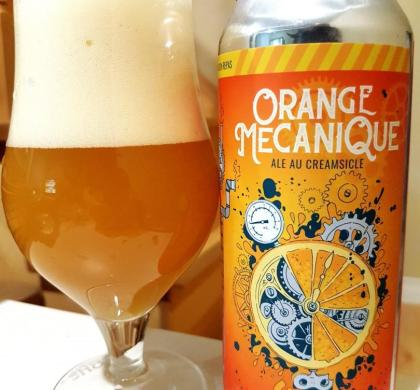 Orange Mécanique de la Microbrasserie Nouvelle-France