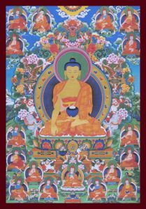 Buddha and the Seventeen Nalanda Masters