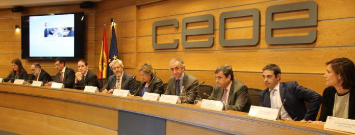 Acto en el auditorio de la CEOE en Madrid