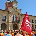 Manifestación de trabajadores y trabajadoras de ArcelorMitall. Avilés, 11 de junio de 2016. Foto: La Mayoría.