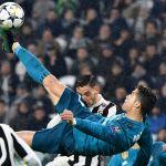Imagen de la famosa chilena de Cristiano Ronaldo en el partido frente al Juventus.