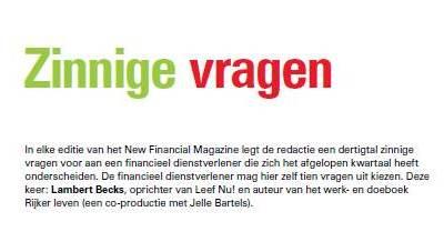 10 zinnige vragen aan lambert voor new financial magazine