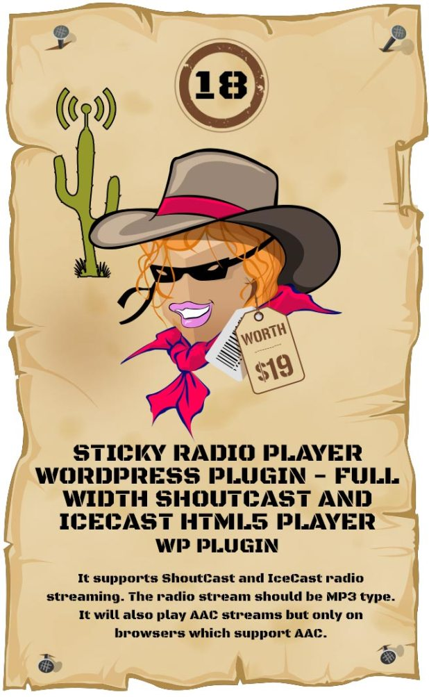 Sticky Radio Player WordPress Plugin - Full Width Shoutcast and Icecast HTML5 Player