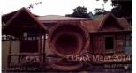 A miniature house, a cornucopia, and a birdhouse from Botolan, Zambales.