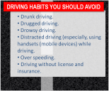 Avoid doing these things.