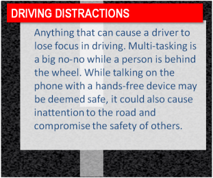 Focus is needed when driving. While multitasking maybe considered a skill, driving should take precedence for your safety.