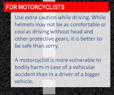 Motorcyclists, beware.
