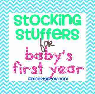 Check out this list of practical and fun stocking stuffers for a baby on his/her first Christmas - everything from small treats to unique clothing items!