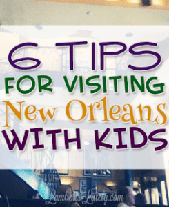 Awesome list of tips for visiting New Orleans with kids! Includes free fun things to do, where to stay, and budget-friendly food options.