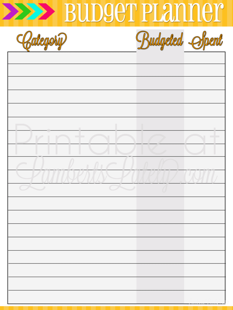 Check out these free budget tracking printables - several different options for organizing your finances. Set categories, budget, and track your money!