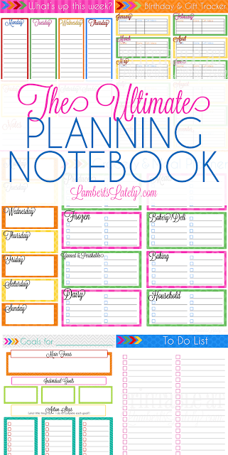 Ultimate Planning Notebook || Free Planner Printables || Planning Templates || Colorful Paper Planner || Home Organization