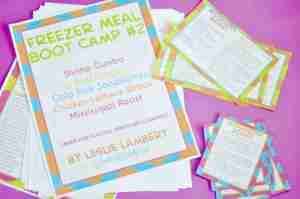 Freezer Meal Boot Camp Packs are HERE!