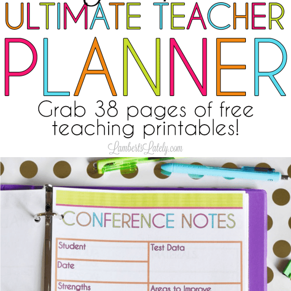 The 2017-2018 Ultimate Teacher Planner