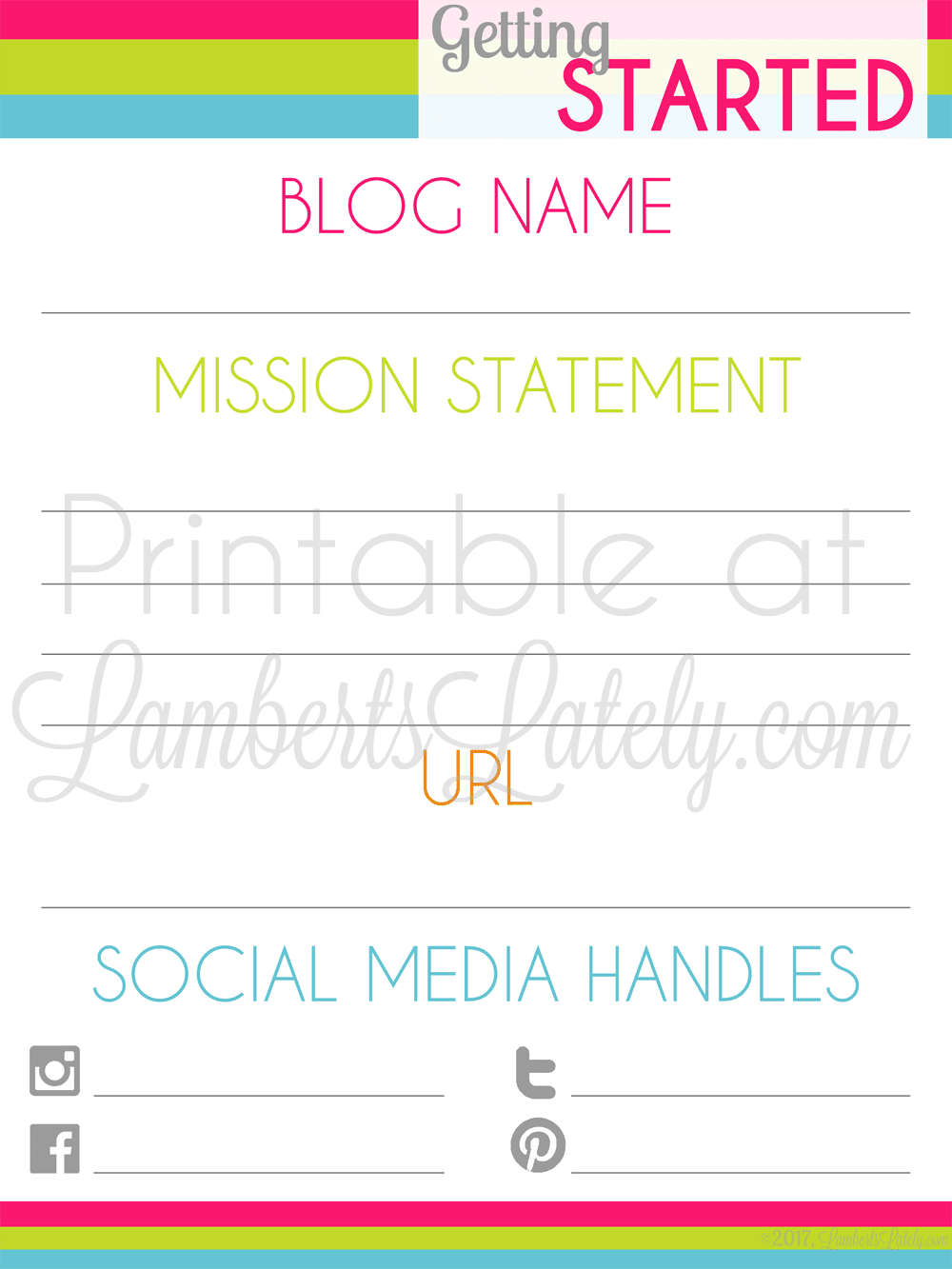 image relating to Printables Blog identify The Greatest Blog site Startup Planner (Free of charge Printables
