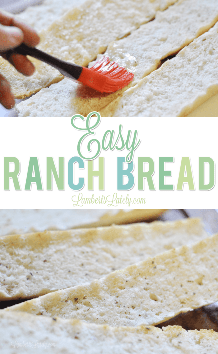 Easy Ranch Bread is the perfect weeknight last-minute side dish! Uses bright flavors with rich butter to make crispy French bread with the perfect flavor.