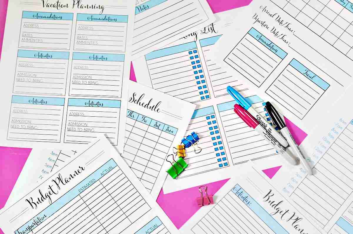 Organize In Style Vacation Planning Printables