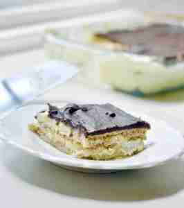 No-Bake Chocolate Eclair Icebox Cake