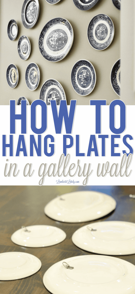 Want to display your plates in a gallery wall without exposed hardware?  This simple DIY tutorial shows you how!  Great idea for  kitchen or dining room decor.