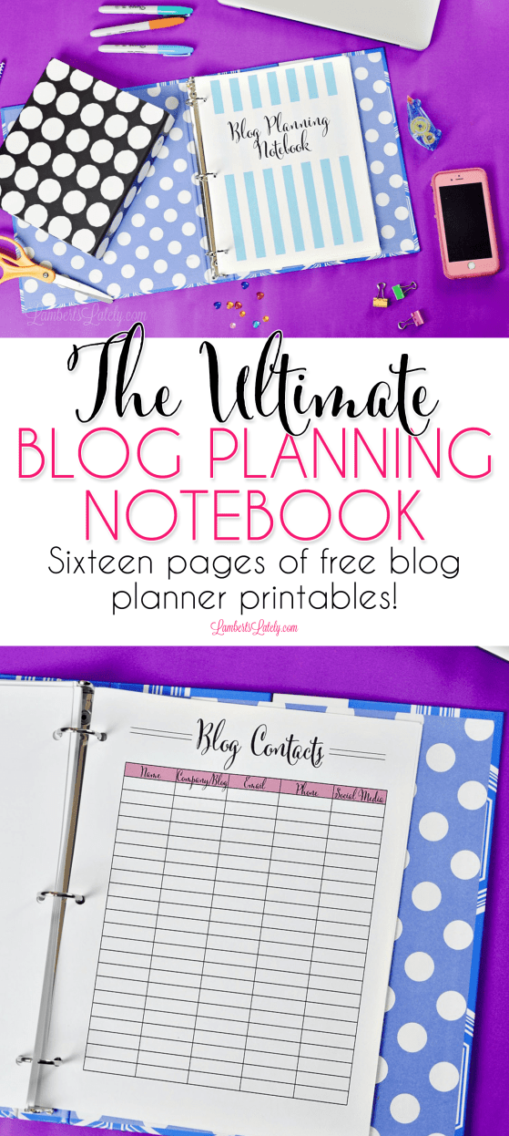 This set of blog planner printables is free and brand new for 2019! Track your weekly blog posts, monthly editorial calendar, income and expenses, goals, and more. Perfect for beginners or pros!