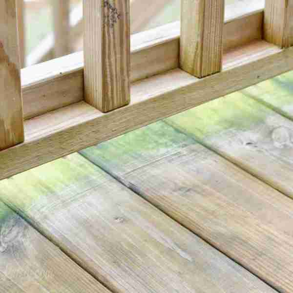 Cleaning a Wood Deck (to make it look like new!)